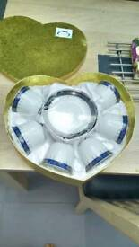 12 piece cup and saucer set