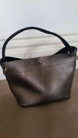 Oliver Bonas metallic and black handbag