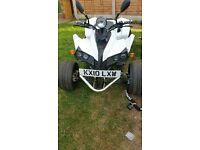 quad white black chrome 2010 plate only done 251 miles