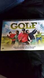 brand new golf DVD and book set