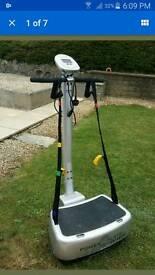 Power plate vibration cardio gym machine