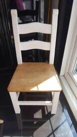 Quality solid wood chairs.