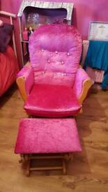 Nursing rocking /glider chair