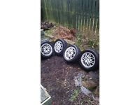 """15"""" Ford alloys with tyres"""