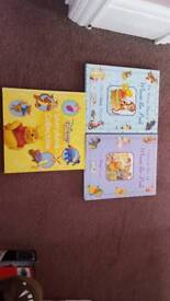 3 lovely Winnie the pooh books christmas