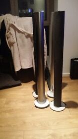 Bang and olufsen beolab 6000 1 pair of silver 1 pair of tungsten grey
