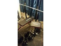 bench press and dumbells home gym excellent condition negotiable