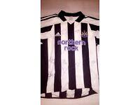 3 Newcastle United Signed Shirts