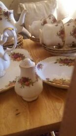 rose country tea set