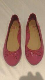 Fuchsia Pink Ballet Pumps - Size 6
