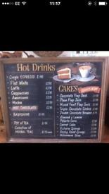 BURGER VAN OR CAFE MENU