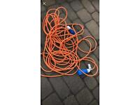 Camping lead for electric hook up