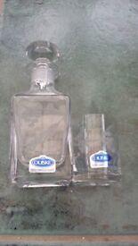 Duiske handcut glass mini decanter & shot glass