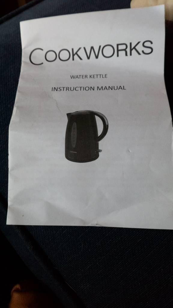 Brand new Cookworks black kettle
