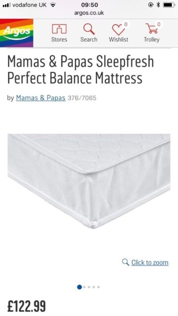 watch 1f079 92f13 Baby Mamas & Papas cot bed mattress - excellent condition | in Hampton,  London | Gumtree
