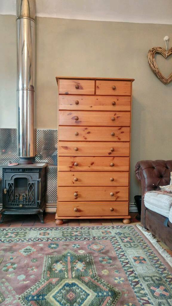 Huge 5 Foot Chest Of Drawers In