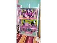 Monster barbie house plus extras