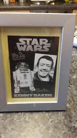 Signed r2d2 picture in good condition
