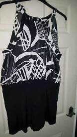 River island playsuit size 16 worn once
