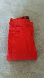 Red jeans /size 6/ Next