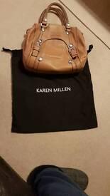 ***Reduced*** Karen Millen faun handbag, with original all cloth dust cover