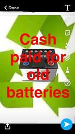 Cash paid for any old car batteries
