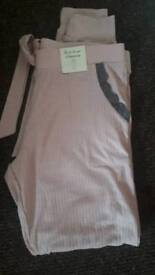 Brand new with tags pink n grey pj bottoms size 10/12