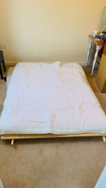 Foldable Bed Frame + Fabric Mattress, £5