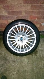 Genuine Ronal BMW 3 Series 17 Alloy Wheel & Tyre E90 E91 F30 F31 160 Style