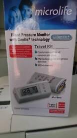 Blood pressure monitor, travel kit.