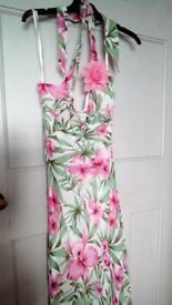 Pretty tie round neck dress new ideal wedding ,holiday etc