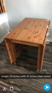 Wood table from ikea. Excellent condition