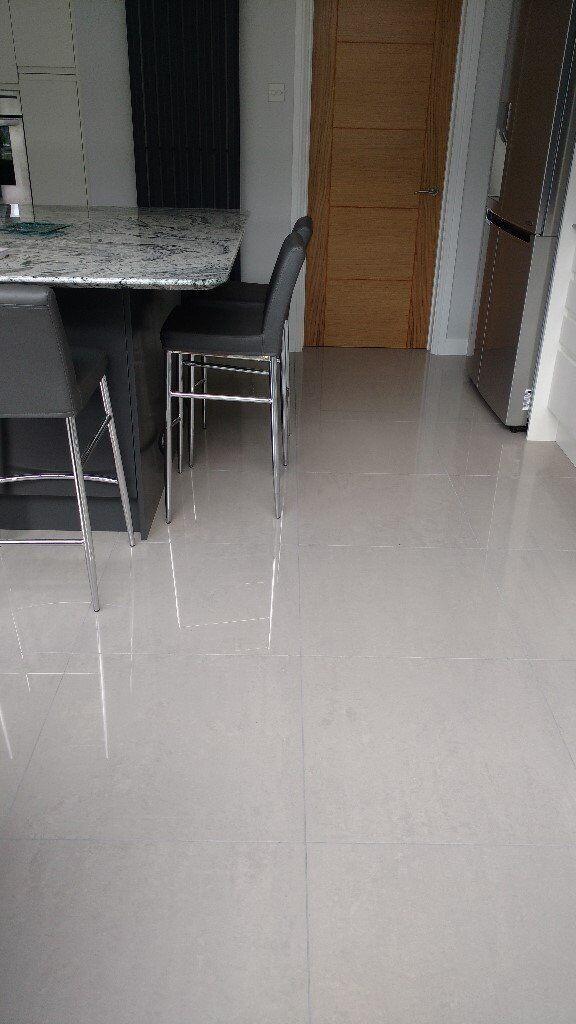 High Quality Polished Grey Porcelain Floor Tiles In Sarisbury