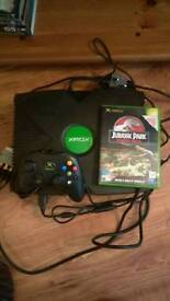 Collectors Original Xbox with Jurassic Park game