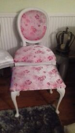 Upstyled french style chair &stool