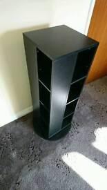 Black twister CD/DVD storage unit