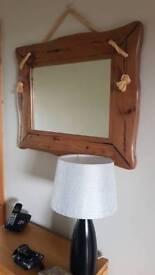 Rustic driftwood effect mirror