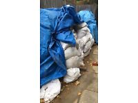 Soil for collection. Bags 35-40kg each. I pay you 1 pound per disposed bag. 100-150 bags in total