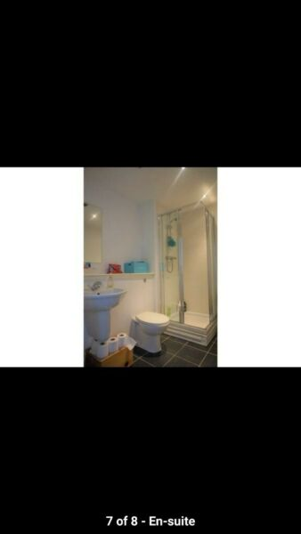 White Shower tray and sliding door, used for sale  Southside, West End
