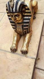Large resin sphinx statue