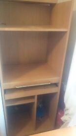 Book shelf computer table work station storage