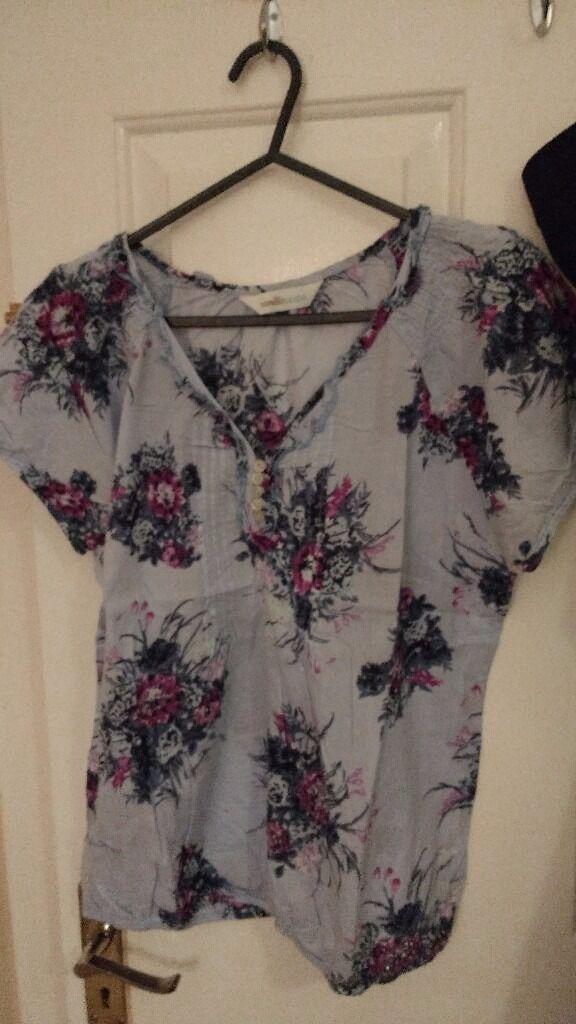 blue blouse size 12-14
