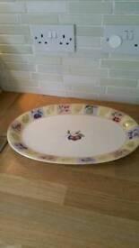 M&S ceramic platter plate