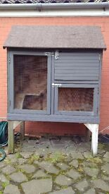 Rabbit Hutch - Two Storey, On Legs, with accessories