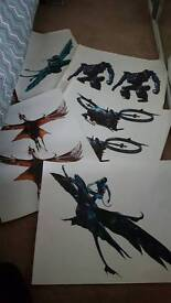 Avatar wall stickers