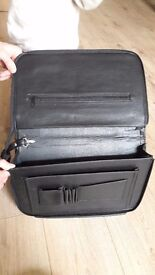 Real leather briefcases black