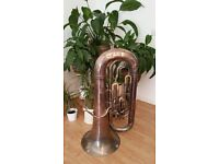 Quality Besson BBb Tuba - Great Old Tuba Ready To Play, Rear Example of BBb Tuba