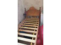 Solid Wood Single Bed Frame