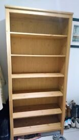 IKEA Hemnes Light Brown Solid Wood Bookcase 90x197cm GREAT CONDITION