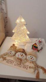 Christmas decorations £4 each